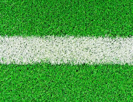lines on soccer field  Stock Photo
