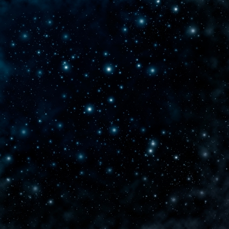 Star on a night sky