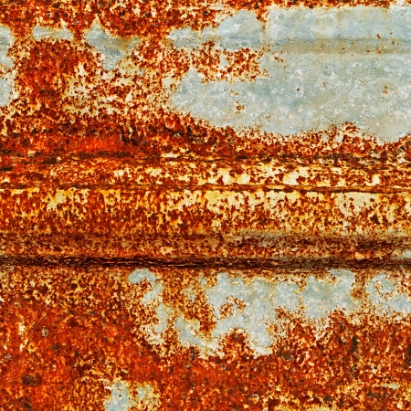 A rusty corrugated iron texture photo