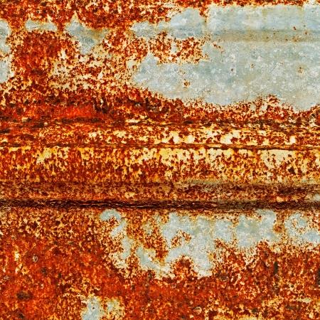 Een roestige golfplaten textuur