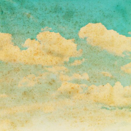 Cloud on old paper texture background Stock Photo - 15410715