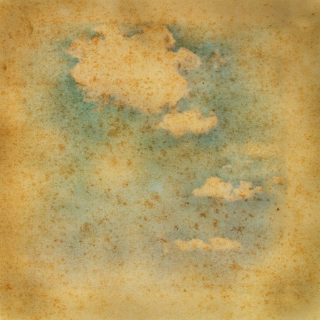 Cloud on old paper texture background  Stock Photo