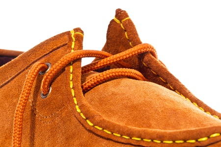 Brown shoe on white background Stock Photo - 16625585