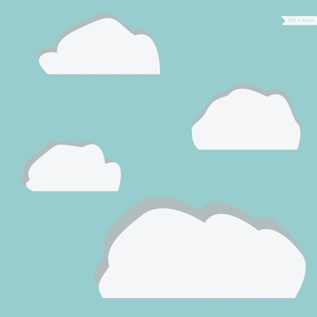 White clouds set Stock Vector - 17087358