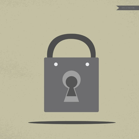 padlock illustration Stock Vector - 17087361