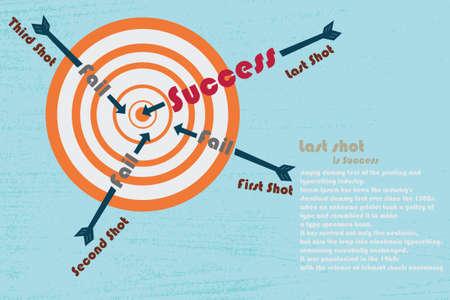Last shot is success Stock Vector - 17210084