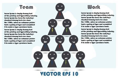 Human teamwork Vector