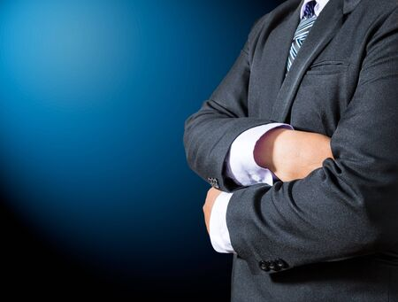 Businessman cross one's arm Stock Photo - 18811092
