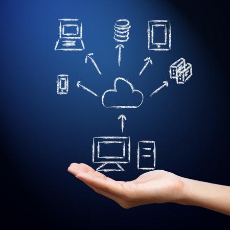 computer services: Cloud computing Stock Photo