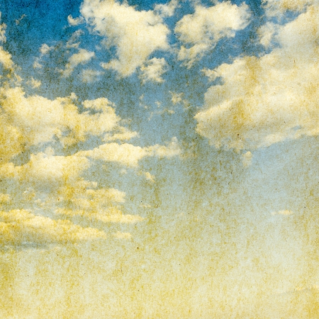 Vintage background in the blue sky Stock Photo - 18811122
