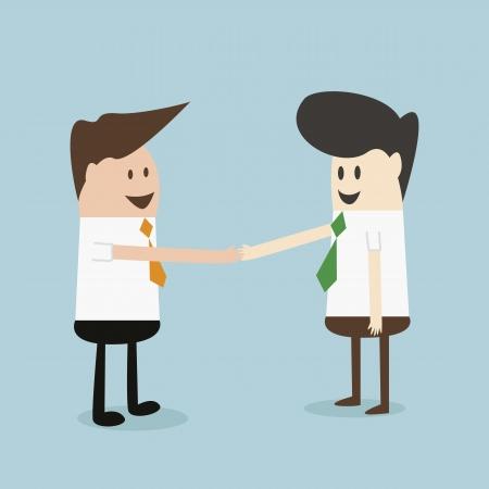 businessmans hand shaking