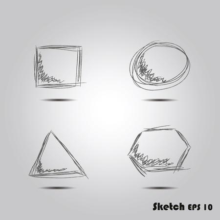 sketch of geometric