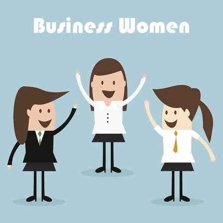 Business women team Vector