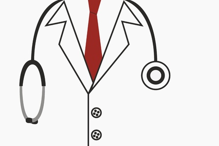 Doctor suit with stethoscope photo