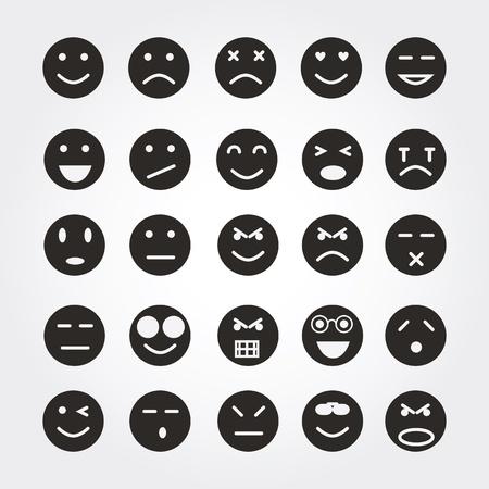 caras de emociones: iconos de emoci?