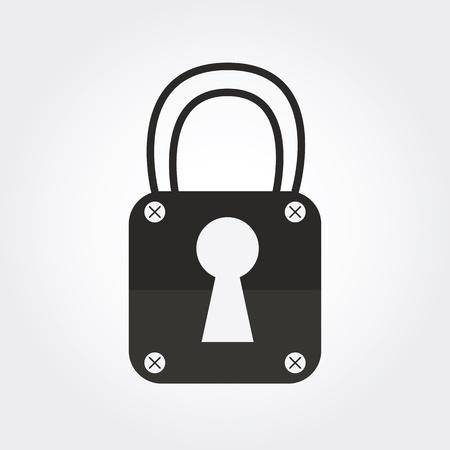oldish: Lock icon Stock Photo