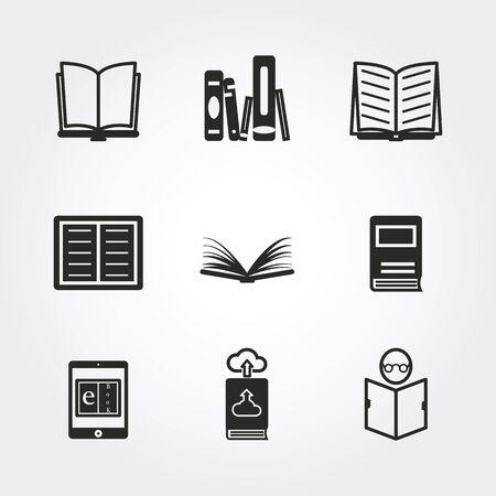 book open: Book icons Stock Photo
