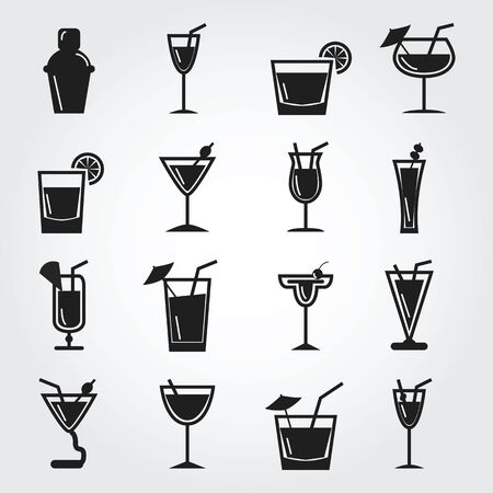Cocktail icons photo