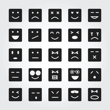 emotion face icons  photo