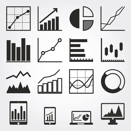 graph icons Stock Photo