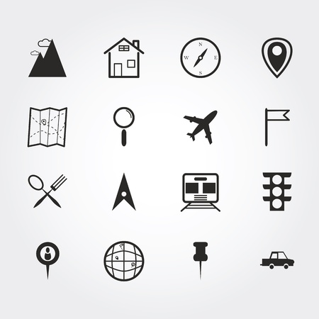 map and location icons photo