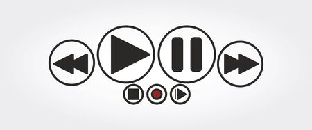Media player icons Stock Photo