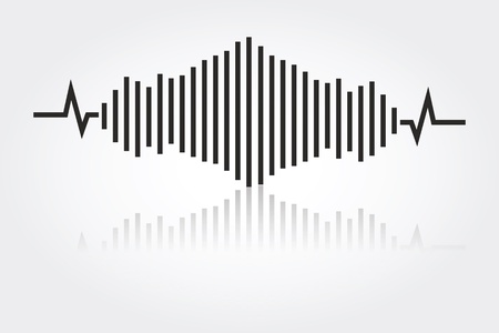 audio wave: sound waves