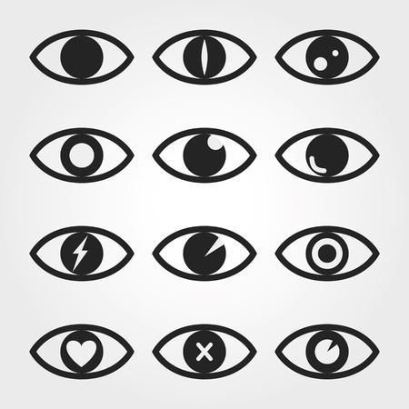 eye brow: eye icon