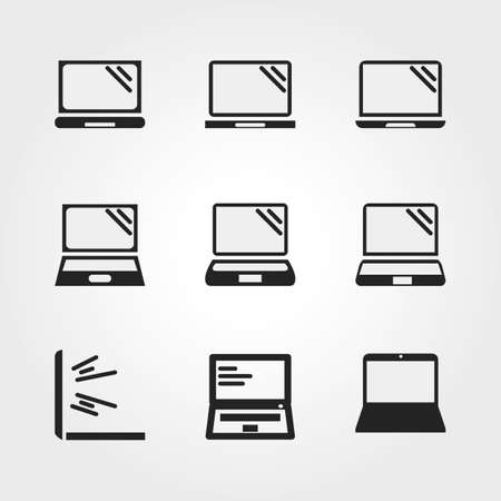 Laptop icons Stock Photo