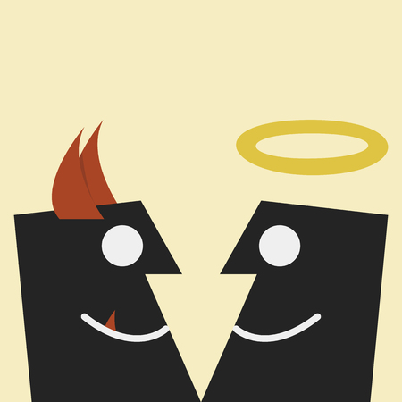 Devil and angel vector Stock Photo - 23085277