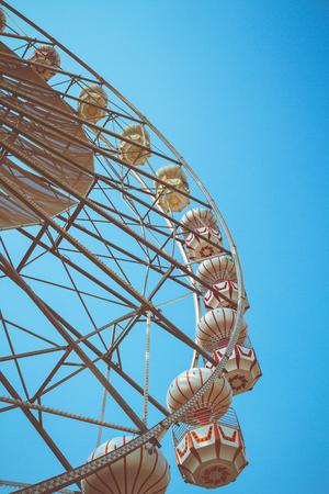 Ferris wheel vintage style Stock Photo