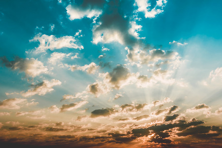 sunrise and cloud vintage style