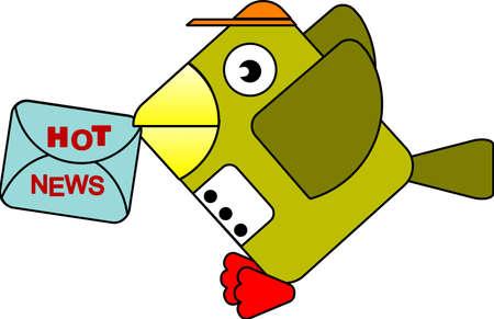 sending: El ave ofrecer noticias calientes