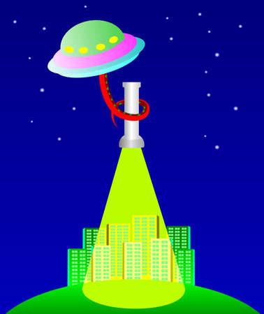 feelers: El OVNI en virtud de la ciudad  Vectores