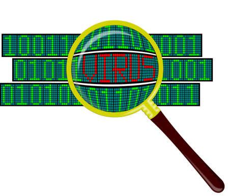 Searching viruses in program Stock Photo