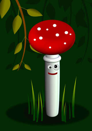 The funny fly agaric