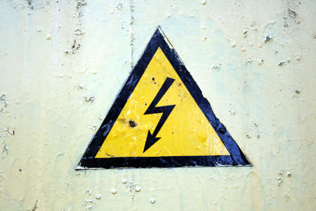 The sign of high voltage Stock Photo