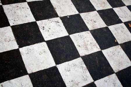 black and white squares Stock Photo