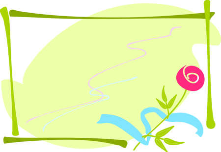 The background with rose and blue band.