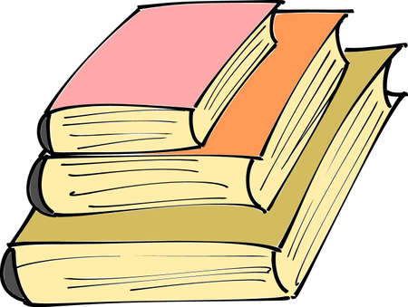 It is a pile of books. It is a study theme. Illustration