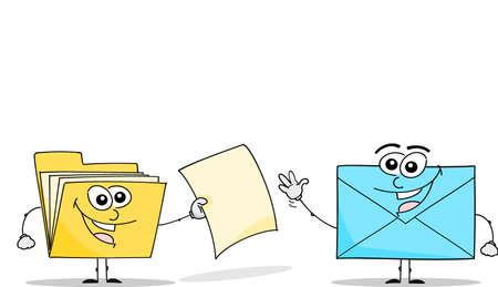 folder and envelope Illustration