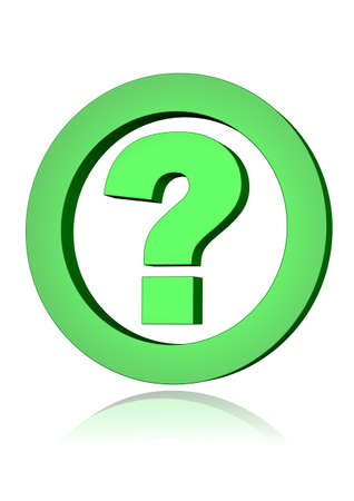 green question mark Stock Photo
