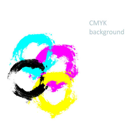 cmyk abstract: CMYK abstract background