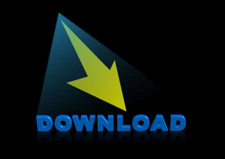 bstract symbol of download