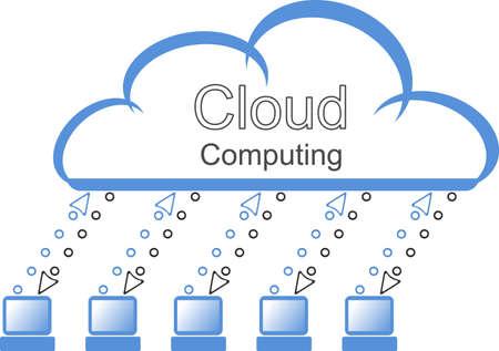 cloud computing Stock Vector - 10294486