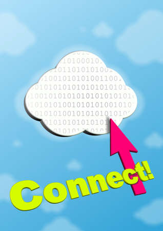 This is symbol of cloud computing. photo