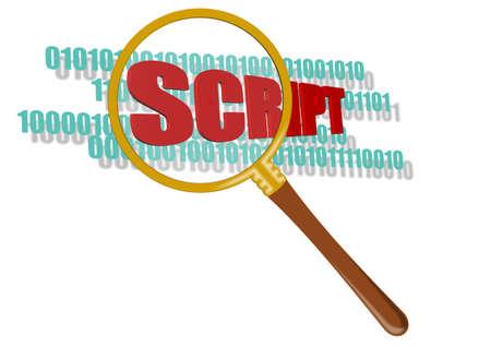 inspect script Stock Photo - 11094761