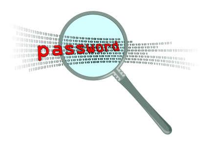 password in magnifier Stock Photo - 11094766