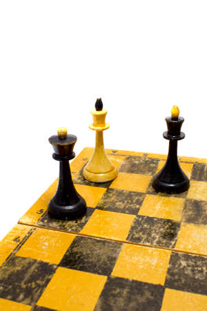checkmate on board Stock Photo