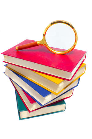 color books and magnifier